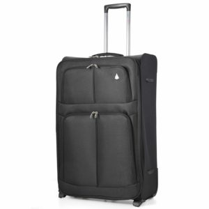 Aerolite Large Super Lightweight Travel Hold Check In Luggage Suitcase with 2 Wheels 29 Black
