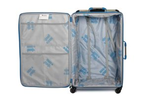 IT Luggage World's Lightest 83cm Four Wheel Spinner Suitcase Blue Review