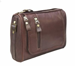 Prime Hide Outback Range Luxury Brown Leather Wash Bag