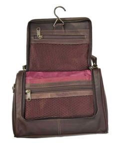 Prime Hide Outback Range Luxury Brown Leather Wash Bag Review